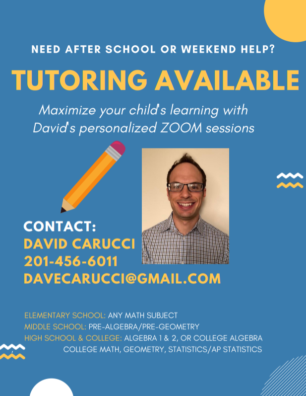 Need After School or Weekend Help? Tutoring Available